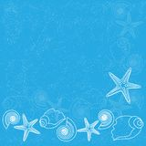 Blue background with sea life Royalty Free Stock Image
