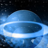 Blue Background Shows Outer Space And Astronomy Stock Image