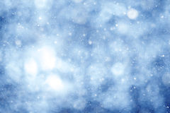 Blue background with snow texture. Blurred blue background with snow texture Stock Photo