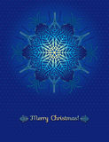 Blue background with snowflake, vector Royalty Free Stock Images