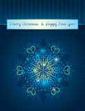 Blue background with snowflake, vector Royalty Free Stock Photography