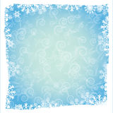 Blue background with snowflakes Stock Image