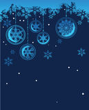 Blue background with snowflakes Royalty Free Stock Photography