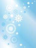 Blue background with snowflakes. Royalty Free Stock Images