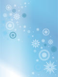 Blue background with snowflakes. Stock Images