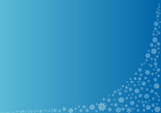 Blue background with snowflakes. This image is available in EPS8 vector format royalty free illustration