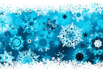 Blue background with snowflakes. EPS 8 Stock Photography