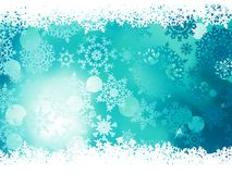 Blue background with snowflakes. EPS 10 Stock Photography