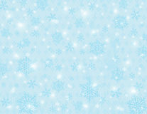 Blue background with snowflakes, vector Royalty Free Stock Images