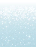 Blue background with snowflakes, vector Stock Photos