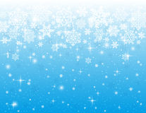 Blue background with snowflakes, vector Stock Images
