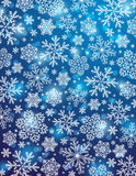Blue background with snowflakes, vector Royalty Free Stock Photo