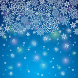 Blue background with snowflakes, vector Stock Photography