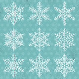 Blue  background with snowflakes, vector. Illustration Stock Image