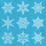 Blue  background with snowflakes, vector Stock Image