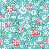 Blue background with snowflakes, vector. Illustration Stock Photo
