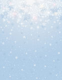 Blue background with snowflakes, vector Royalty Free Stock Photos