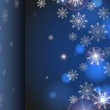 Blue Background With Snowflakes. Stock Image