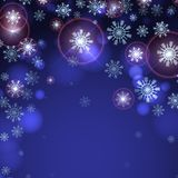 Blue Background With Snowflakes. Royalty Free Stock Image