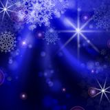 Blue Background With Snowflakes. Royalty Free Stock Photos