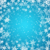 Blue background with snowflakes. Vector. Illustration. EPS 10 Royalty Free Stock Photo