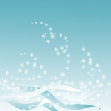 Blue background with snowstorm Royalty Free Stock Photos