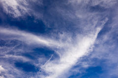 Blue background with. A somewhat cloudy sky royalty free stock photography