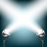 Background with spot lights Royalty Free Stock Photos