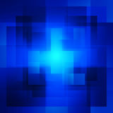 Blue background of squares stock illustration