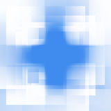Blue background of squares Stock Photography