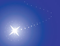 Blue background with star. Vector illustration royalty free illustration