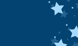 Blue background with star design collection. Vector illustration Royalty Free Stock Images