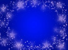 Blue background with stars vector illustration