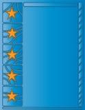 Blue background with stars. Blue background with orange stars Stock Photo
