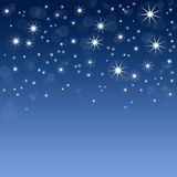Blue background with stars. Abstract blue background with stars vector illustration