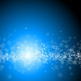 Blue background with stars. Christmas illustration Stock Photos