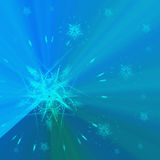 Blue background with stars. Computer generated illustration of blue background with abstract stars Stock Image