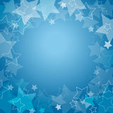 Blue background with stars. And place for your text Royalty Free Stock Photos