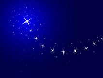 Blue background with stars. Vector illustration stock illustration