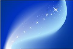 Blue background with stars royalty free stock photos