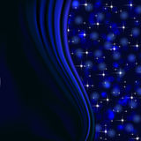 Blue background with stars and bokeh lights Royalty Free Stock Image