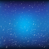 Blue background and stars  Stock Images