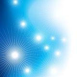 Blue background with stars and light Stock Photo