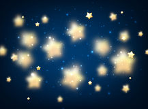 Blue background with stars. Blue luminous background with stars. Vector illustration Stock Image