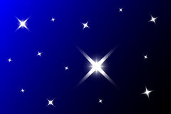 Blue background with stars,starry sky Royalty Free Stock Photo