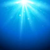 Blue background with sunlight Royalty Free Stock Photos