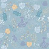 Blue background with tea Stock Photos
