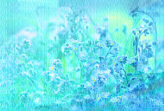 Blue background with texture of flowers Royalty Free Stock Photography