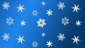 CHRISTMAS 2019. Happy New Year! 2019 Christmas. Winter Snow wallpaper. Snowfall. Snowy BLUE light background. Festive snowflakes blank banner. Happy New Year stock image