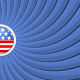 Blue background on the theme of July 4th Stock Photography